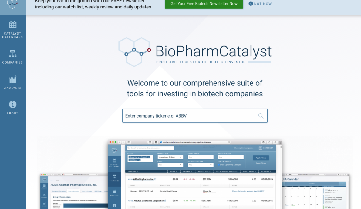 Biotech Stocks for investors and traders • BioPharmCatalyst